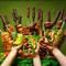 世界のBBQ全13種を季節の包み野菜で包んで食べるビュッフェコース!世界中のBBQをご堪能下さい!