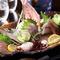 野菜、肉、海鮮、卵、素麺。淡路島直送の食材をふんだんに使用