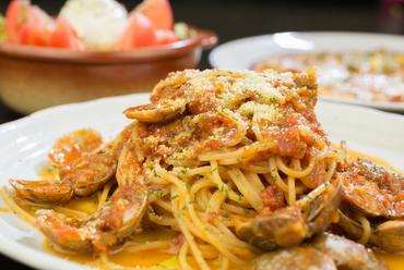 あさりの旨みとトマトの甘み・酸味が織り成す絶妙な風味が楽しめる『ボンゴレロッソ』