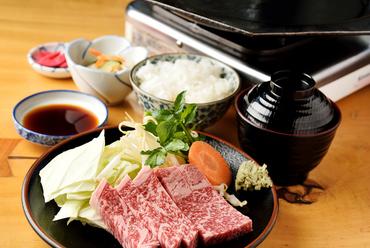 『飛騨牛 ロース定食』