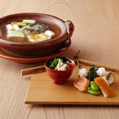 地産地消を大切に、京都産の食材をふんだんに使用した料理の数々