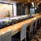 華麗な職人技が眺められる「寿司カウンター」