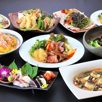 忘年会・新年会プラン「海鮮と博多水炊きのコース」3,800円