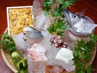 毎朝獲れたての魚介を厳選。お造り盛り合わせ