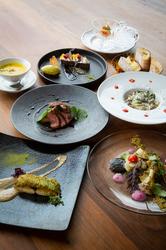 メイン料理を魚料理・肉料理・パスタ料理・東伯和牛から選べるランチコース