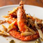 3つの調理方法から選べる、食べ応え十分の『シュリンプをお好みで(網焼き/フリット/ガーリックソテー)』
