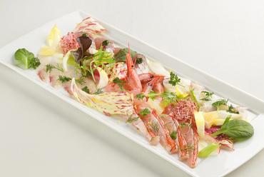 旬の鮮魚のカルパッチョ5種盛り合わせ