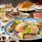 前菜から刺身盛り、浜焼きにデザートまで。食べ応え十分の宴会コース