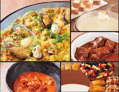 北海道から東日本にかけての食材や味覚を食べ放題で! ヘルシーなスープなどもご用意しております。