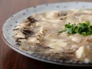 ピリリとした山椒が効いた『白い麻婆豆腐』