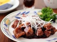 ブルーベリー風味、黒酢を使った『酢豚』