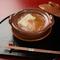 当店のスぺシャリテとも言える一品『フカヒレと胡麻豆腐のお鍋』