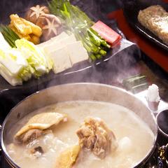 博多名物【水炊き】と【呼子直送活烏賊】の人気コースです。