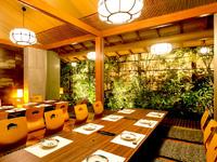さまざまな九州の美食を存分に堪能できる癒しの和風空間