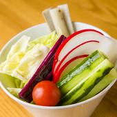 可能な限り、無農薬で育てられたものを取り入れている『野菜盛り』