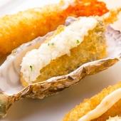 冬の食材は安芸津産の『牡蠣』、季節の味わいが串揚げで楽しめる