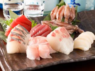 新鮮プリプリの「刺身」や旬の味わいの「牡蠣」で一杯どうぞ