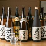 地酒以外にも、県外のバリエーション豊かな銘酒が楽しめます