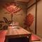 国内外から訪れる客人との食事にも、プライベートな個室を完備
