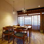 プライバシーに配慮したい食事には、2階の個室で