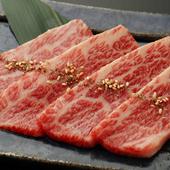 ひむか生肉三種盛(赤身刺、ユッケ、タタキ)