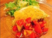 イタリア・サンダニエーレ産生ハム、自家製ロースハム、イタリアンサラミの3種類盛り合わせです。