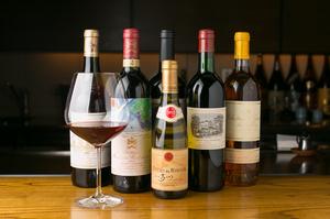 シェフが厳選した、料理に良く合う「ワイン」の数々