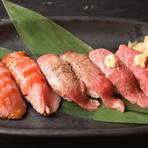 豪快!牛赤身肉の炙り寿司