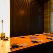 大事な商談や接待にも最適!完全個室の掘りごたつ席を用意