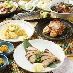 「炙りたて〆鯖」や「大分 豊後とり天」「ブリの甘辛照り焼き」など九州名物のお料理が楽しめるコース!