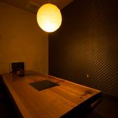個室や座敷、カウンターなどシーンに合わせて選べるフロア