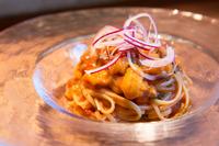 生ウニと生のりが醸す磯の風味が自慢『北海道産生ウニと生のりの冷製バベッティーネ』