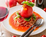 丸ごと!爆弾トマトのスパゲッティ