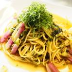 高菜と生のりの和風スパゲッティ