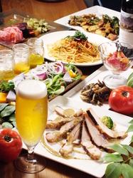 カジュアルコース♪自慢のお野菜と本日のペンネもついたコースです。ドリンク、デザート付き♪★