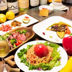 お野菜とメイン料理がついたボリューム満点のコース。少し贅沢したいとき、家族でランチ、顔合わせなどに♪
