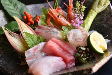 天然魚のお造り