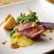 肉と野菜の旨みを堪能『牛ハラミと旬の野菜の炭火焼き マルサラソース』