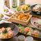 四季の彩り豊かな創作和食コースは全て飲み放題付き2480円~!