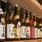 日本各地の蔵元から選び抜かれた豊富な「日本酒」