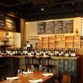 ワインは仏産を中心に150~200種、ローカルワインなども充実