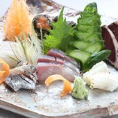 その日一番美味しい旬の魚介を満喫『お造り盛り合わせ』