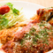 お箸で切れるやわらかな鶏むね肉が絶妙『チーズチキンカツ イタリアントマトソース』