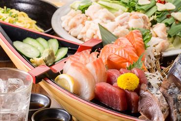 季節ごとに仕入れる旬魚をご提供!『直送鮮魚刺身豪華盛り合わせ』はご宴会にオススメ!