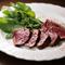 上質な赤味肉をレモン風味のオリーブオイルでいただく『鹿屋ダチョウ肉のフィレ肉のロースト』