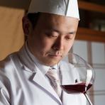 伝統的な懐石に新たな可能性を。料理人自らセレクトするワイン