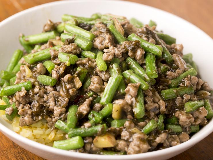 インゲンと豚ひき肉の炒め飯
