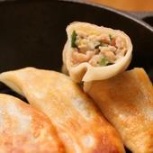 こだわり豚肉の手作り餃子(6個)
