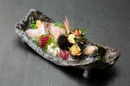 福岡博多港で朝獲れた魚を空輸。『新鮮お刺身の盛り合わせ』