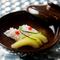 優しい風味の出汁で包まれた『鱧と加賀胡瓜のお椀』